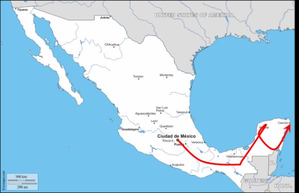 Trajet_Mexique
